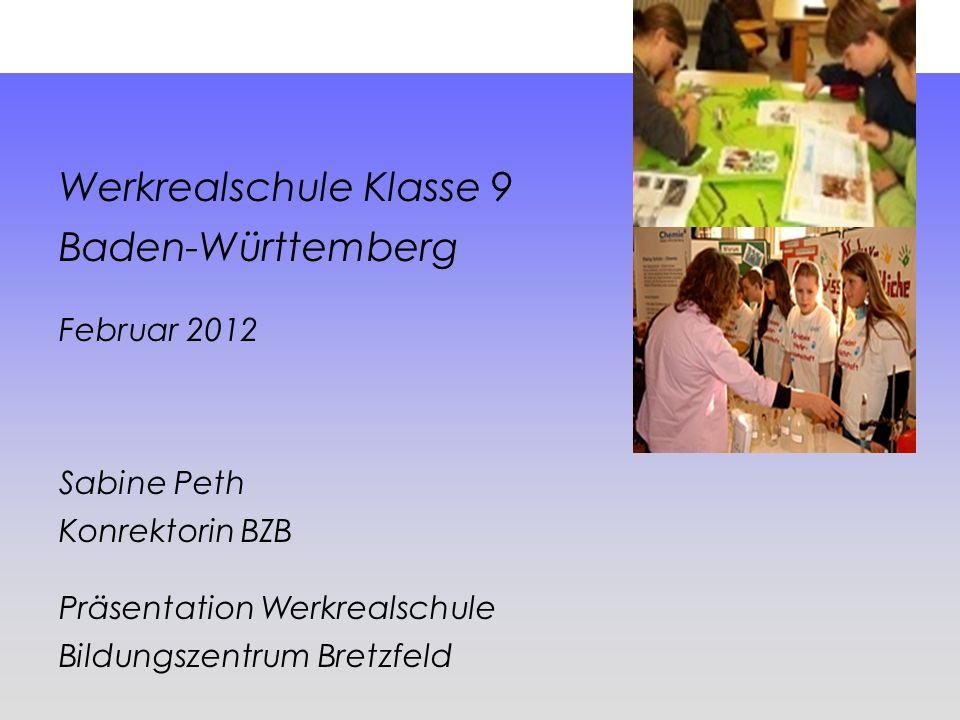 Werkrealschule Klasse 9 Baden-Württemberg