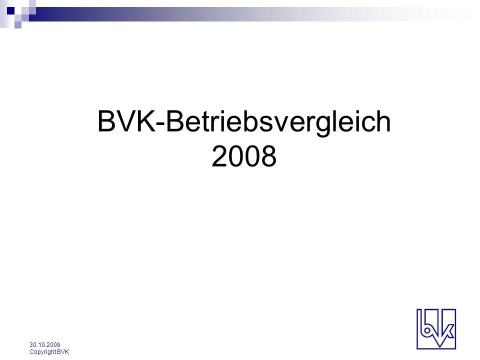 BVK-Betriebsvergleich 2008