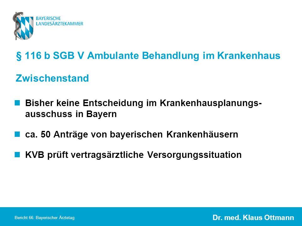 § 116 b SGB V Ambulante Behandlung im Krankenhaus