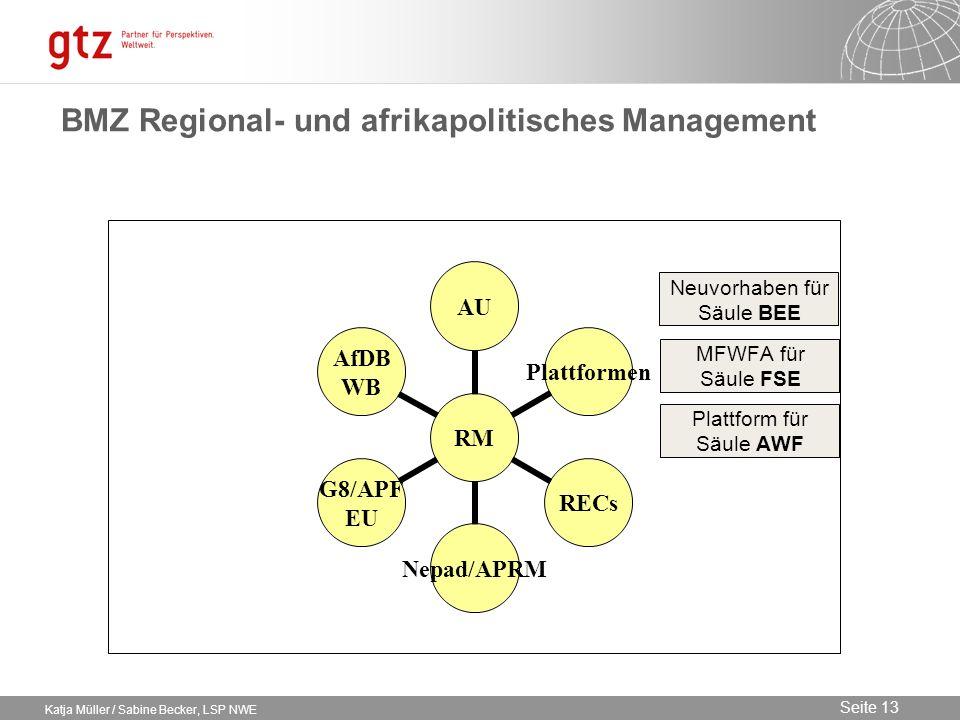 BMZ Regional- und afrikapolitisches Management