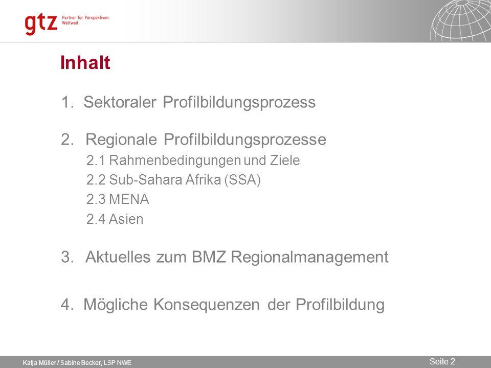 Inhalt 1. Sektoraler Profilbildungsprozess