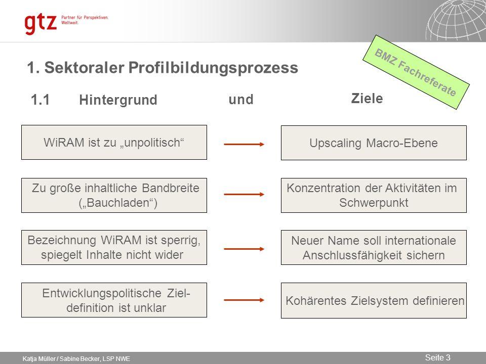 1. Sektoraler Profilbildungsprozess