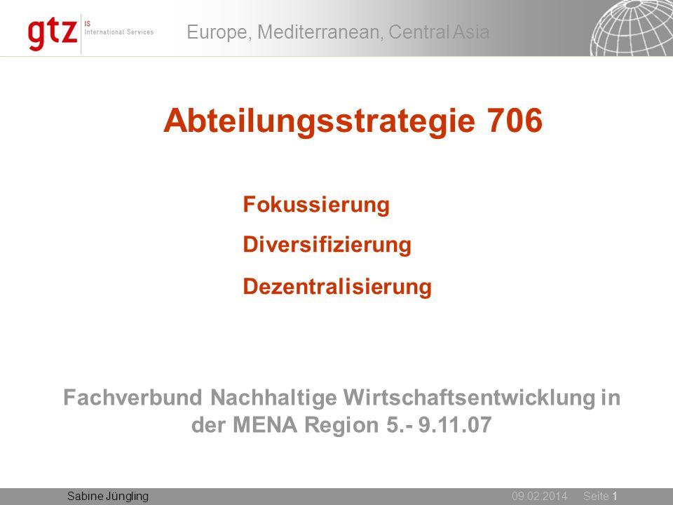 Abteilungsstrategie 706 Fokussierung Diversifizierung