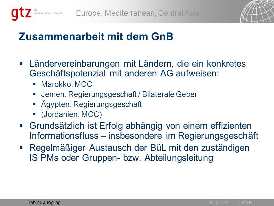 Zusammenarbeit mit dem GnB