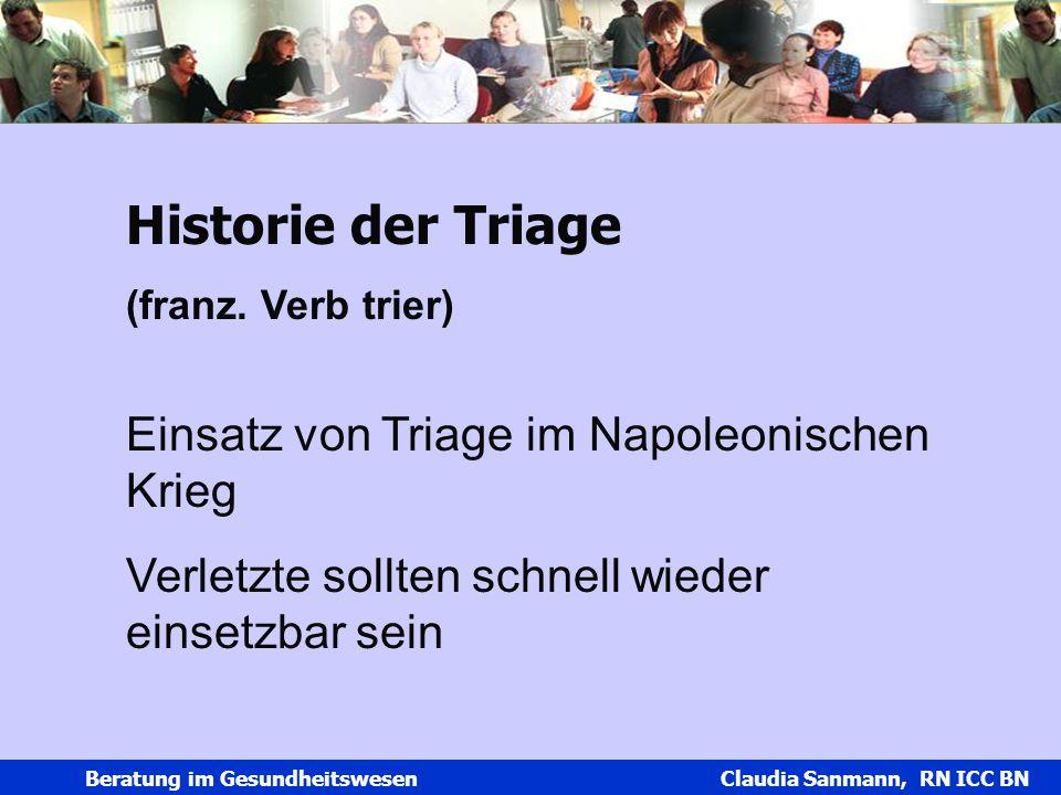 Historie der Triage Einsatz von Triage im Napoleonischen Krieg