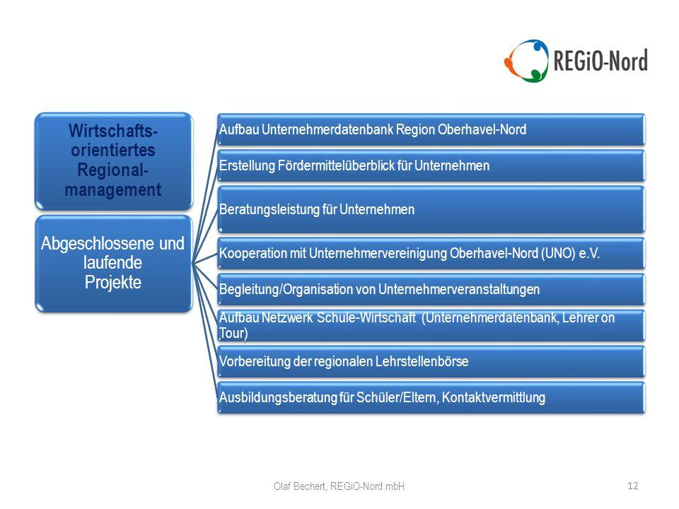 Wirtschafts-orientiertes Regional-management