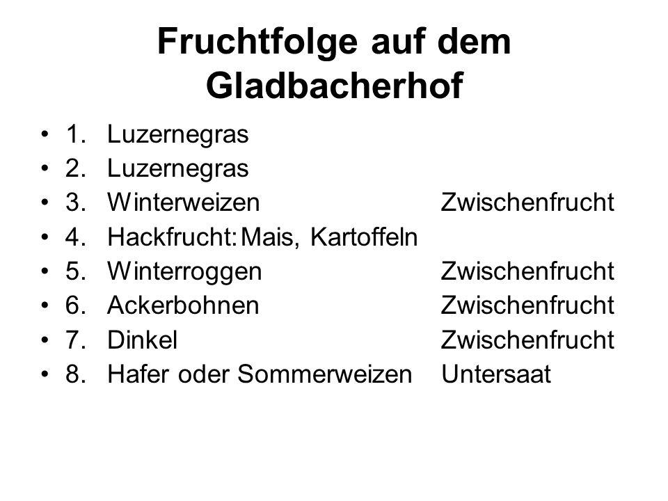 Fruchtfolge auf dem Gladbacherhof