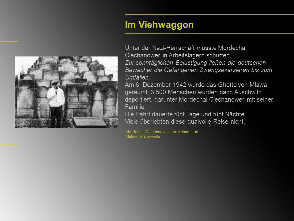 Im Viehwaggon Unter der Nazi-Herrschaft musste Mordechai Ciechanower in Arbeitslagern schuften.
