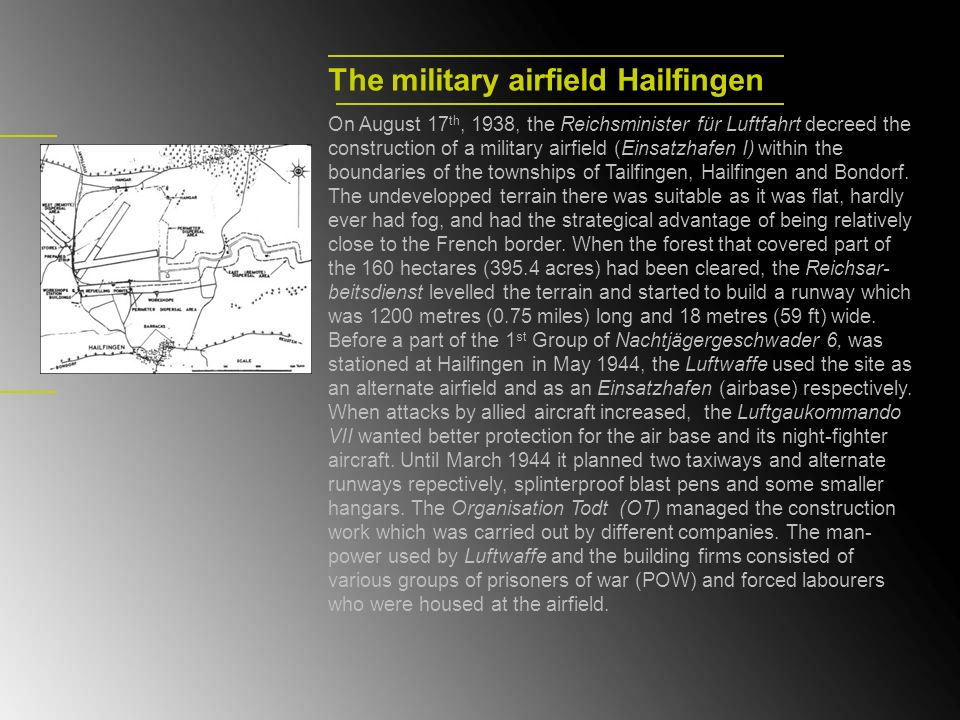 The military airfield Hailfingen