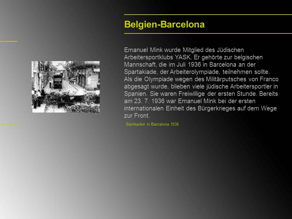 Belgien-Barcelona