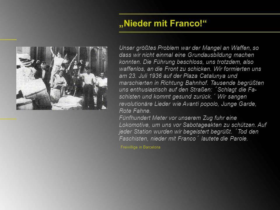 """Nieder mit Franco!"
