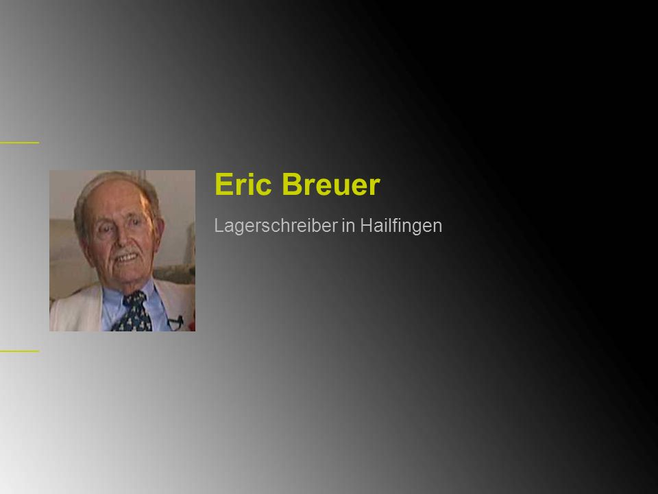 Eric Breuer Lagerschreiber in Hailfingen