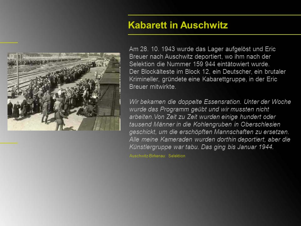 Kabarett in Auschwitz
