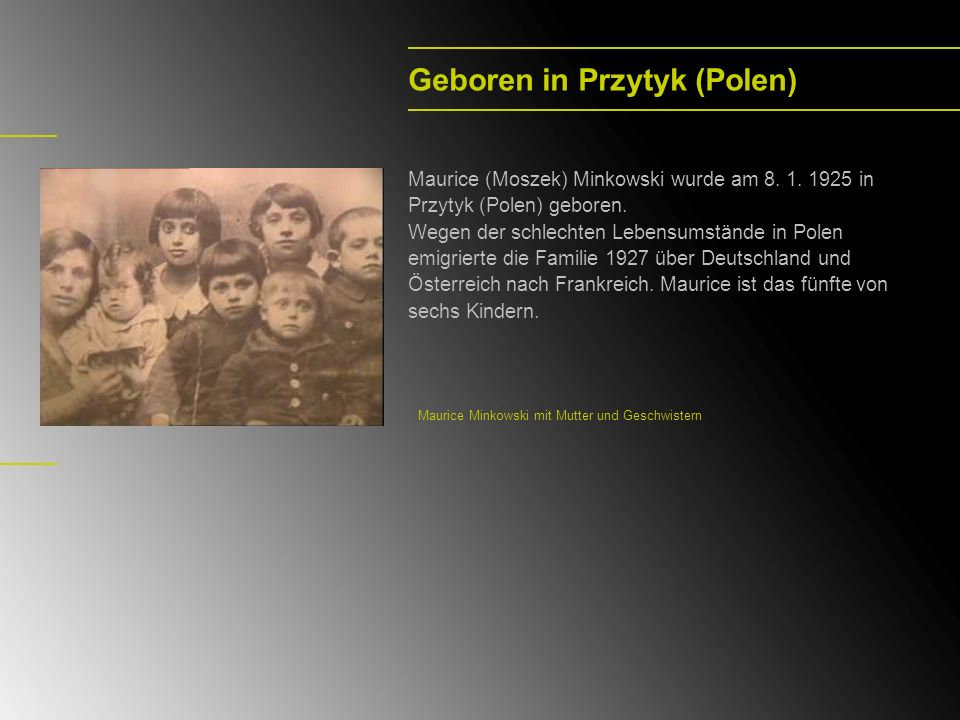 Geboren in Przytyk (Polen)