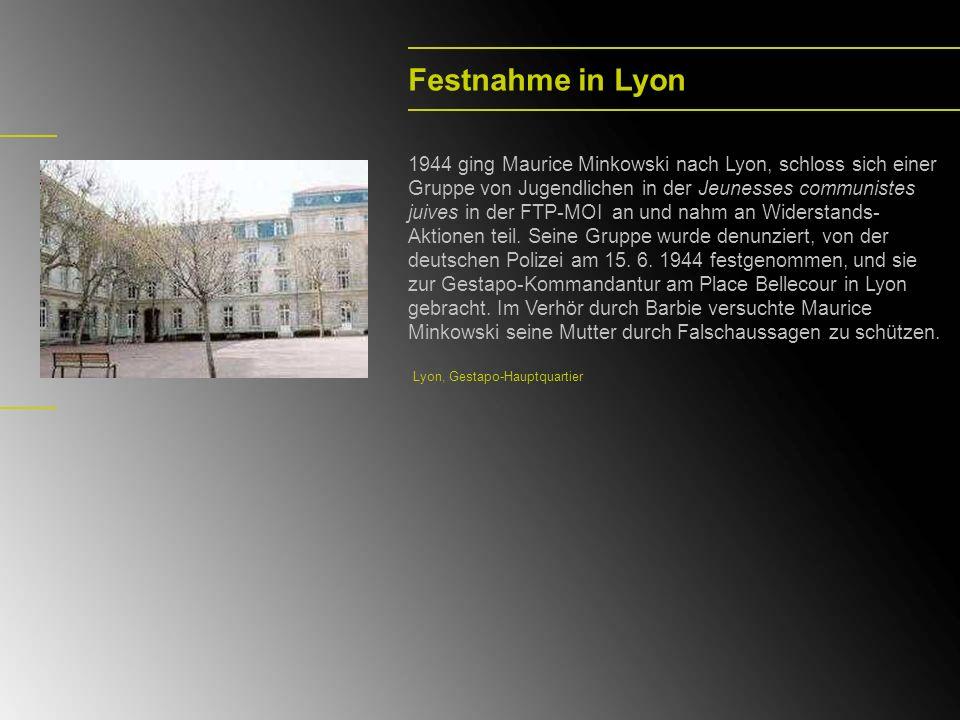 Festnahme in Lyon