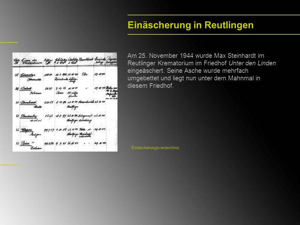 Einäscherung in Reutlingen