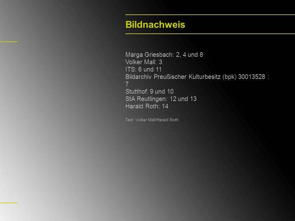 Bildnachweis Marga Griesbach: 2, 4 und 8 Volker Mall: 3 ITS: 6 und 11