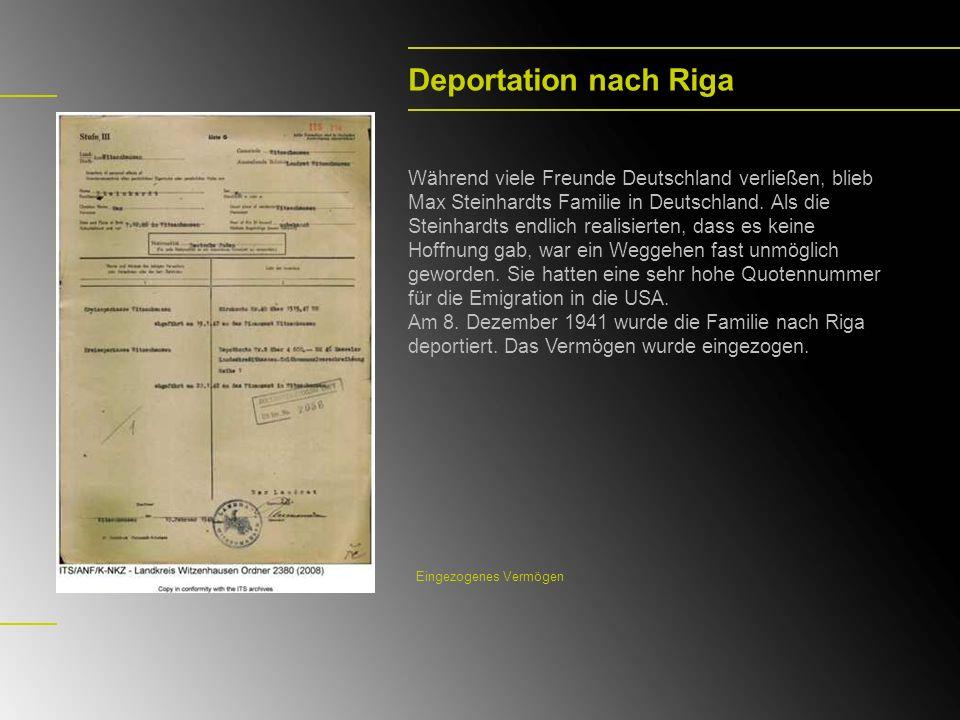 Deportation nach Riga