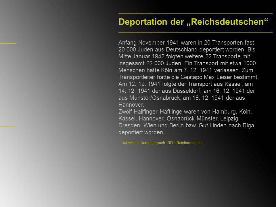 """Deportation der """"Reichsdeutschen"""