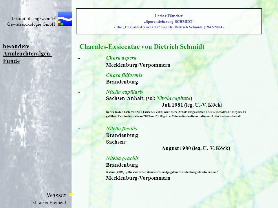 Charales-Exsiccatae von Dietrich Schmidt