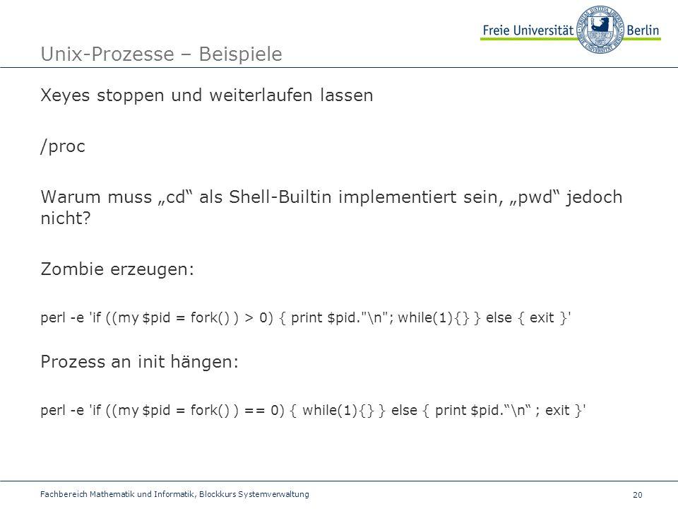 Unix-Prozesse – Beispiele