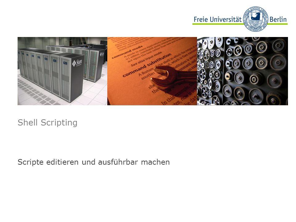 Scripte editieren und ausführbar machen