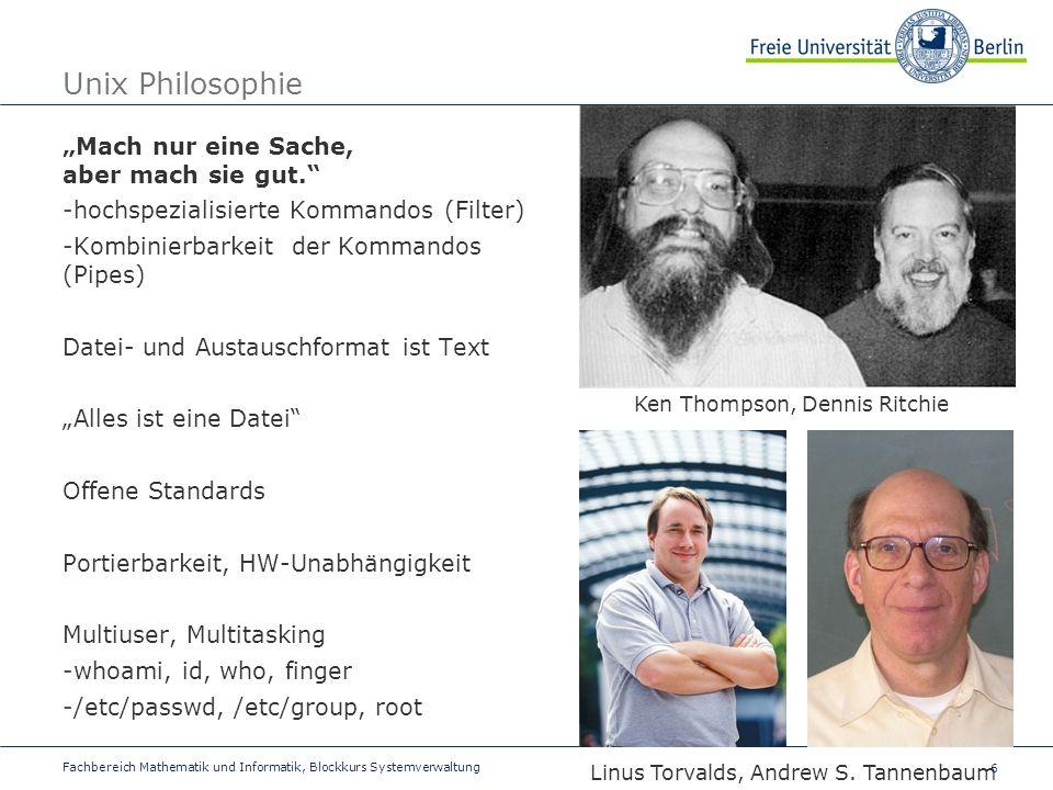 """Unix Philosophie """"Mach nur eine Sache, aber mach sie gut."""