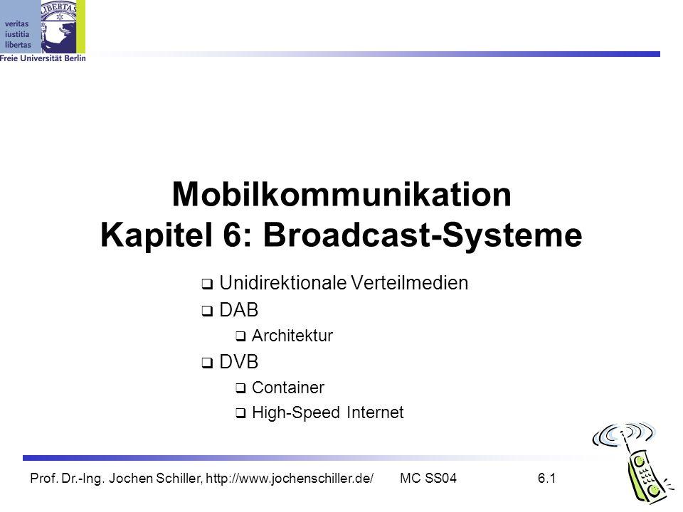 Mobilkommunikation Kapitel 6: Broadcast-Systeme