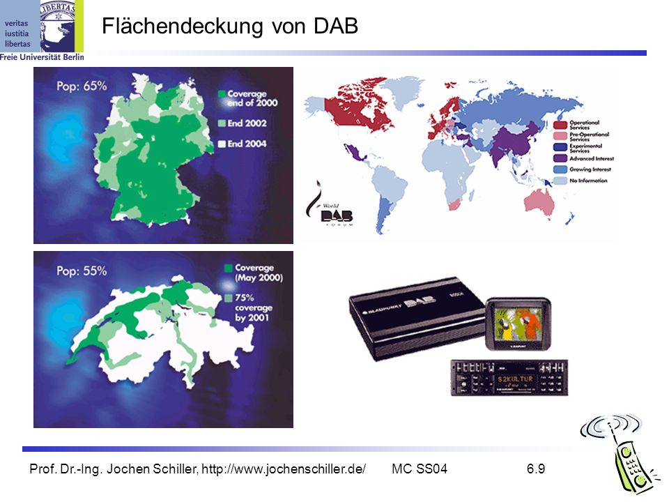 Flächendeckung von DAB
