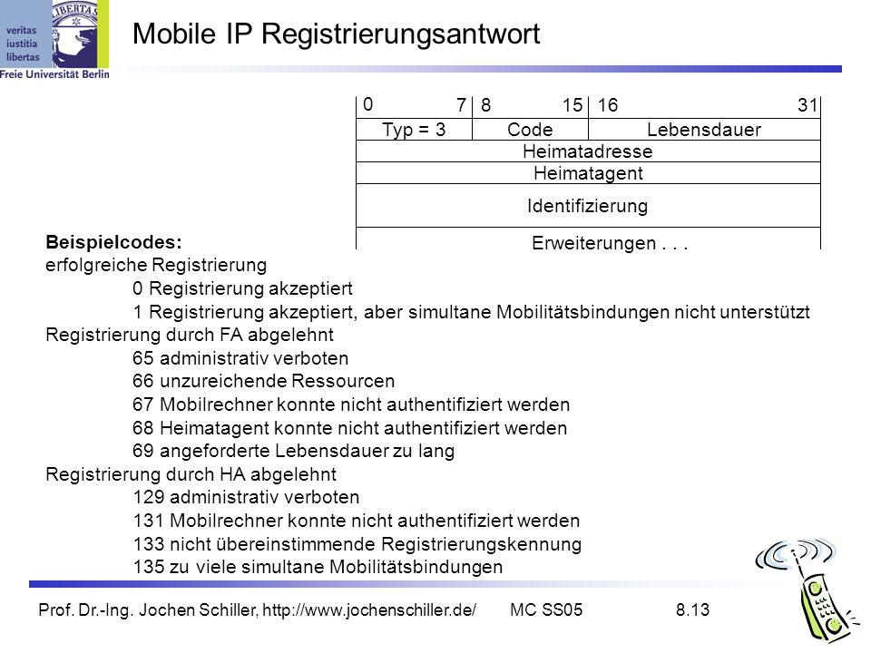 Mobile IP Registrierungsantwort