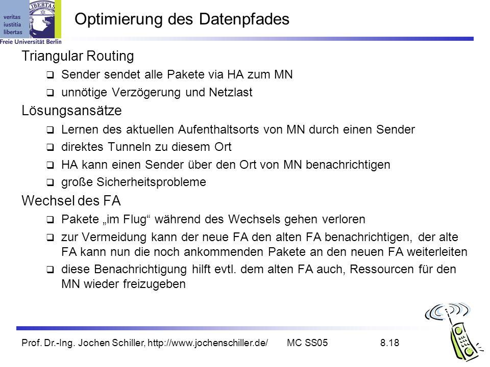 Optimierung des Datenpfades
