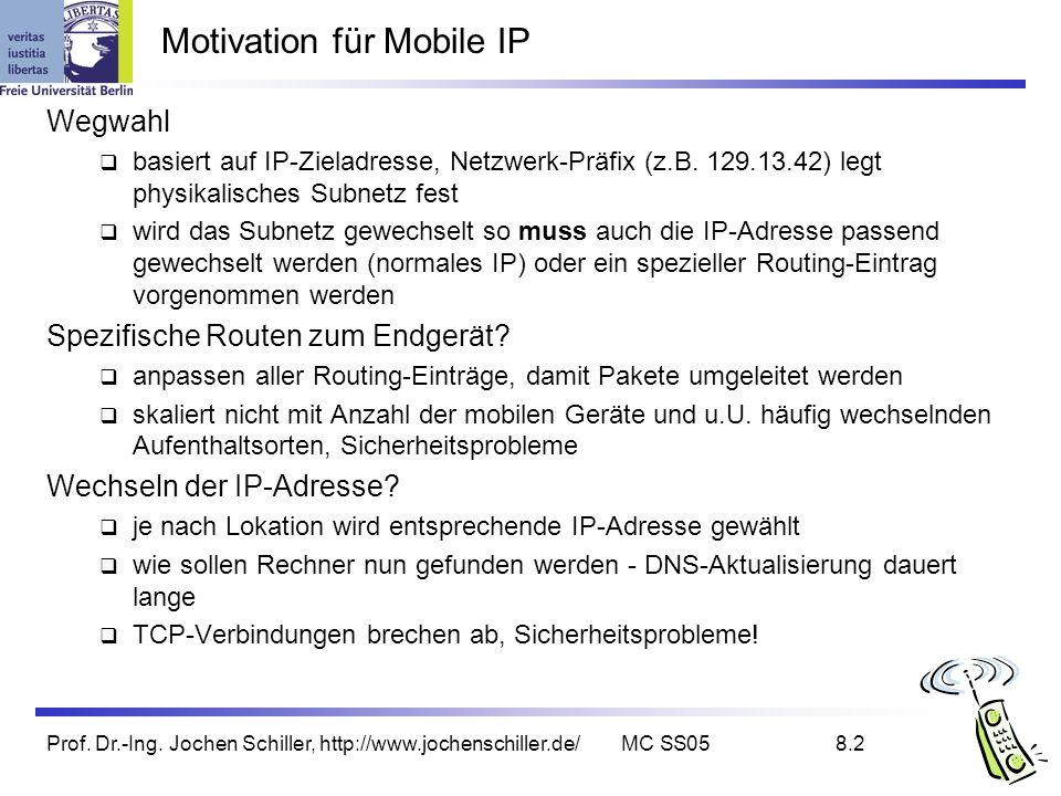 Motivation für Mobile IP