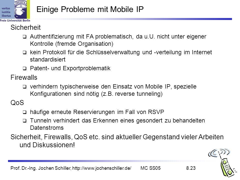 Einige Probleme mit Mobile IP