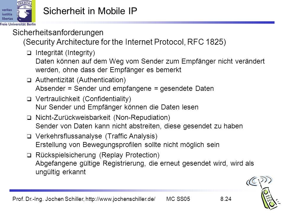 Sicherheit in Mobile IP