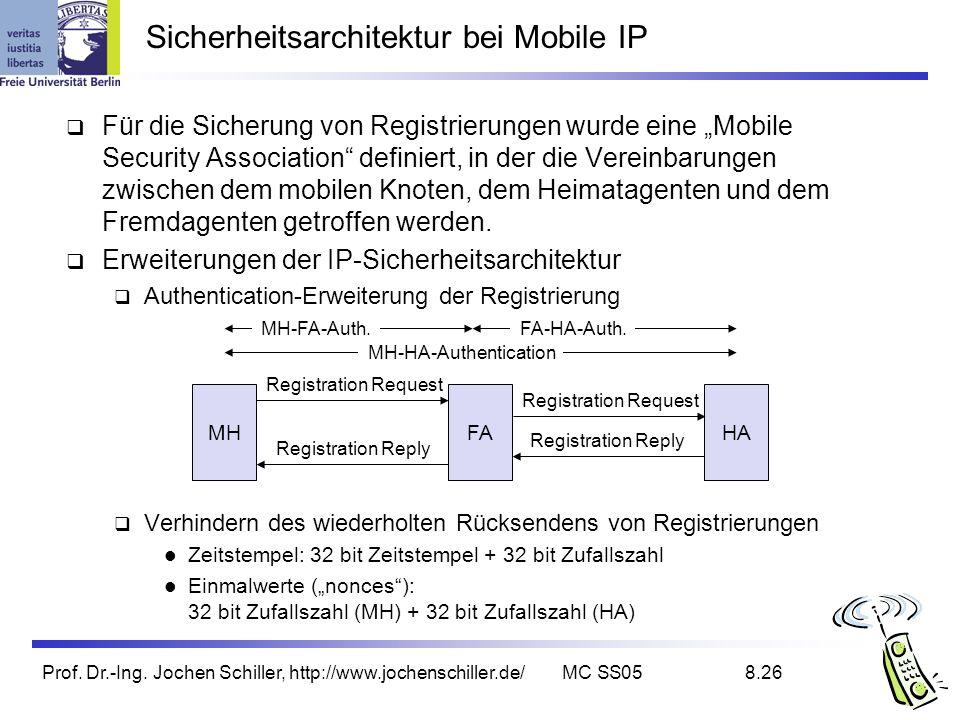Sicherheitsarchitektur bei Mobile IP