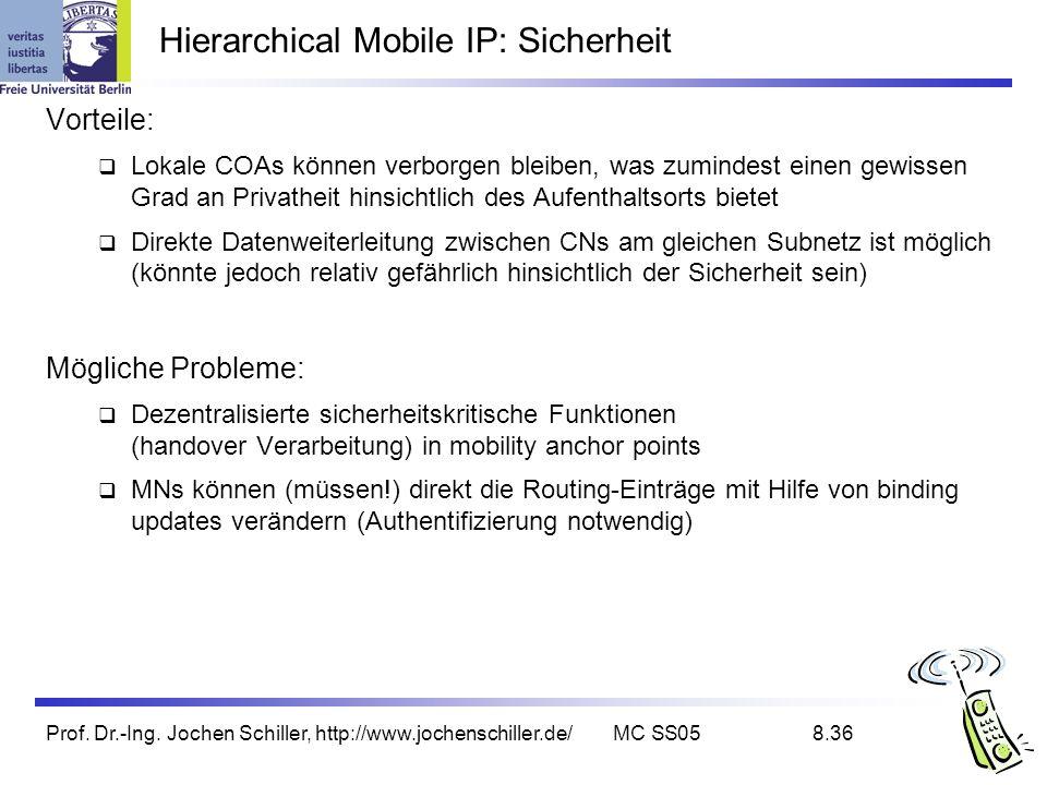 Hierarchical Mobile IP: Sicherheit