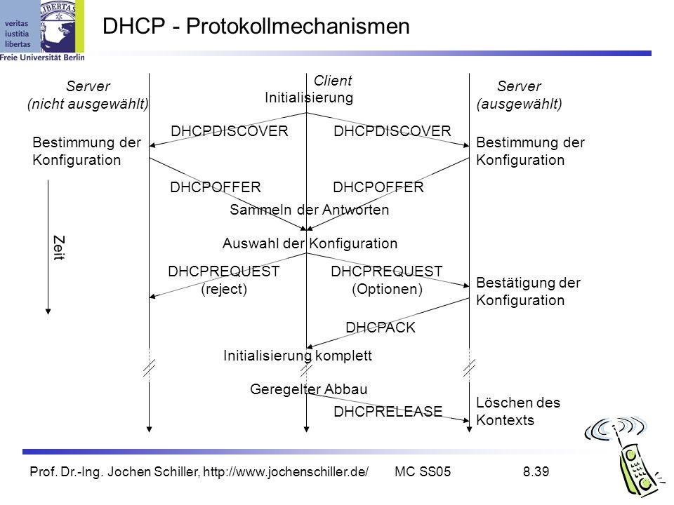 DHCP - Protokollmechanismen
