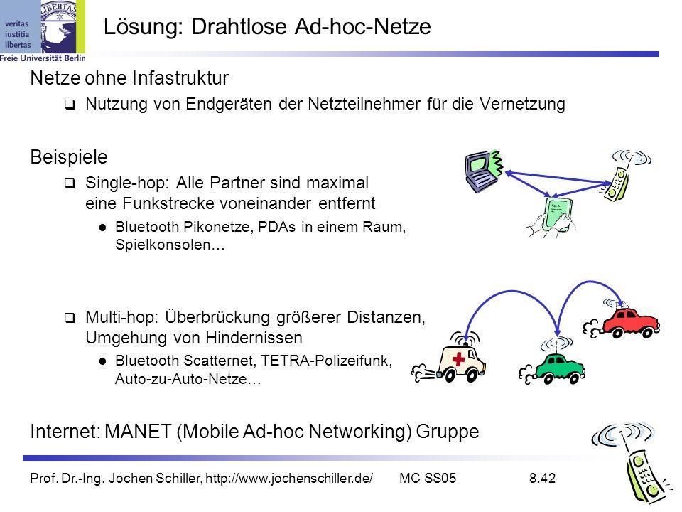 Lösung: Drahtlose Ad-hoc-Netze