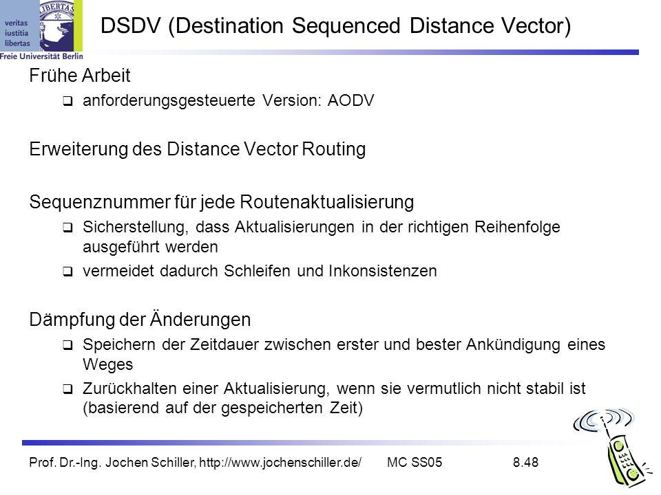 DSDV (Destination Sequenced Distance Vector)