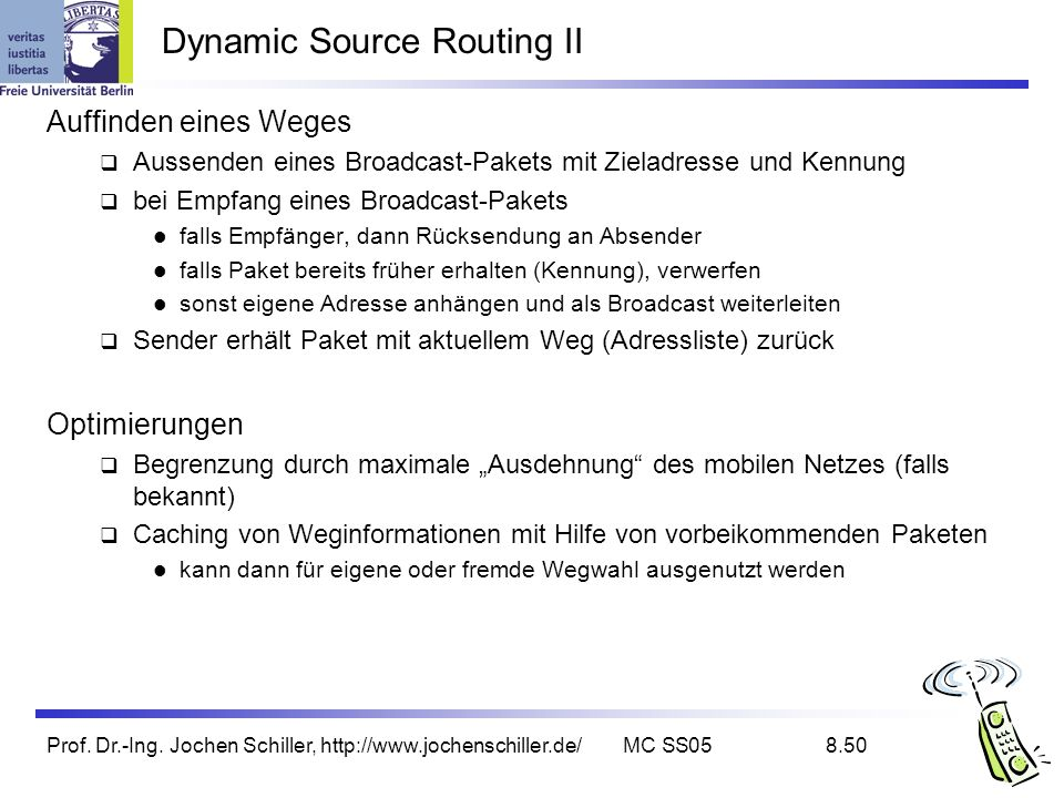 Dynamic Source Routing II