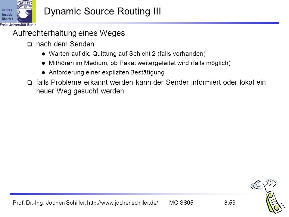 Dynamic Source Routing III