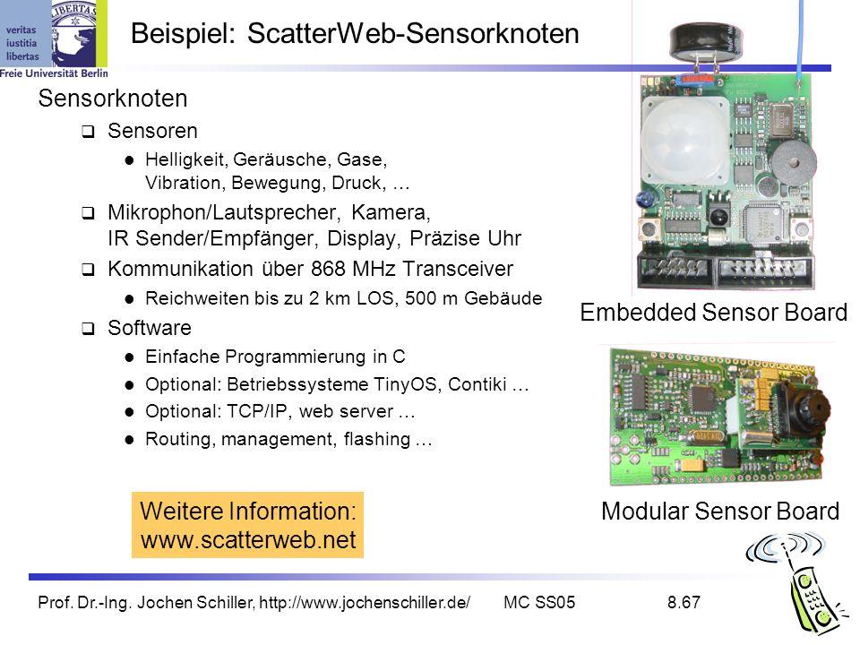 Beispiel: ScatterWeb-Sensorknoten