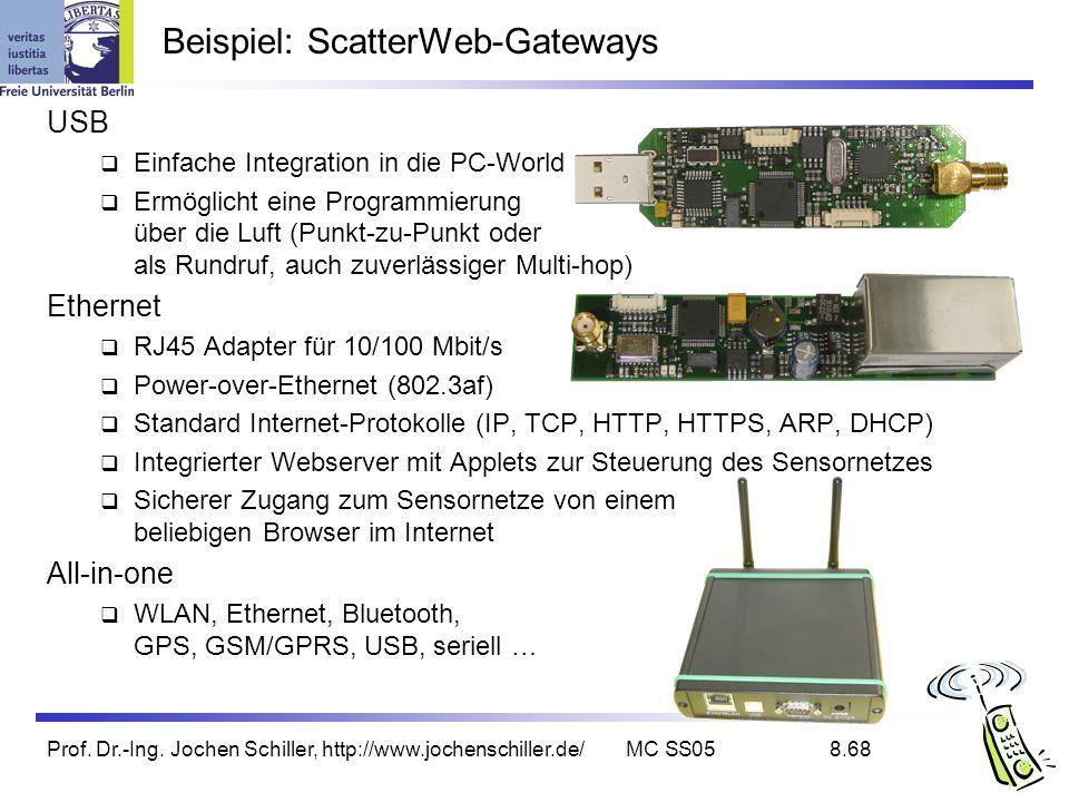 Beispiel: ScatterWeb-Gateways