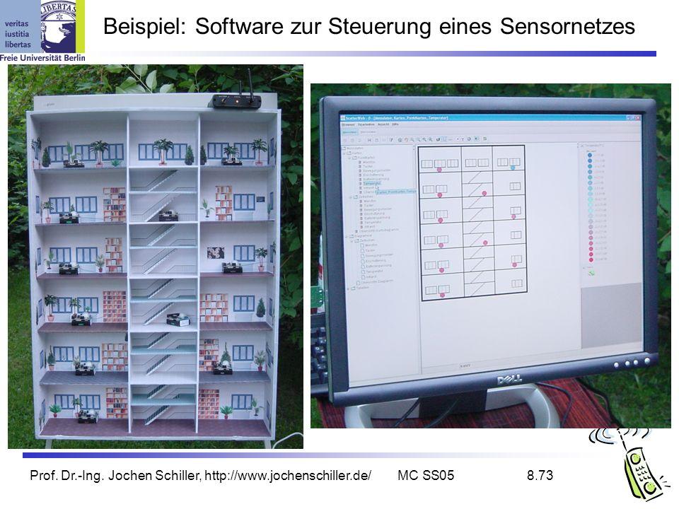 Beispiel: Software zur Steuerung eines Sensornetzes