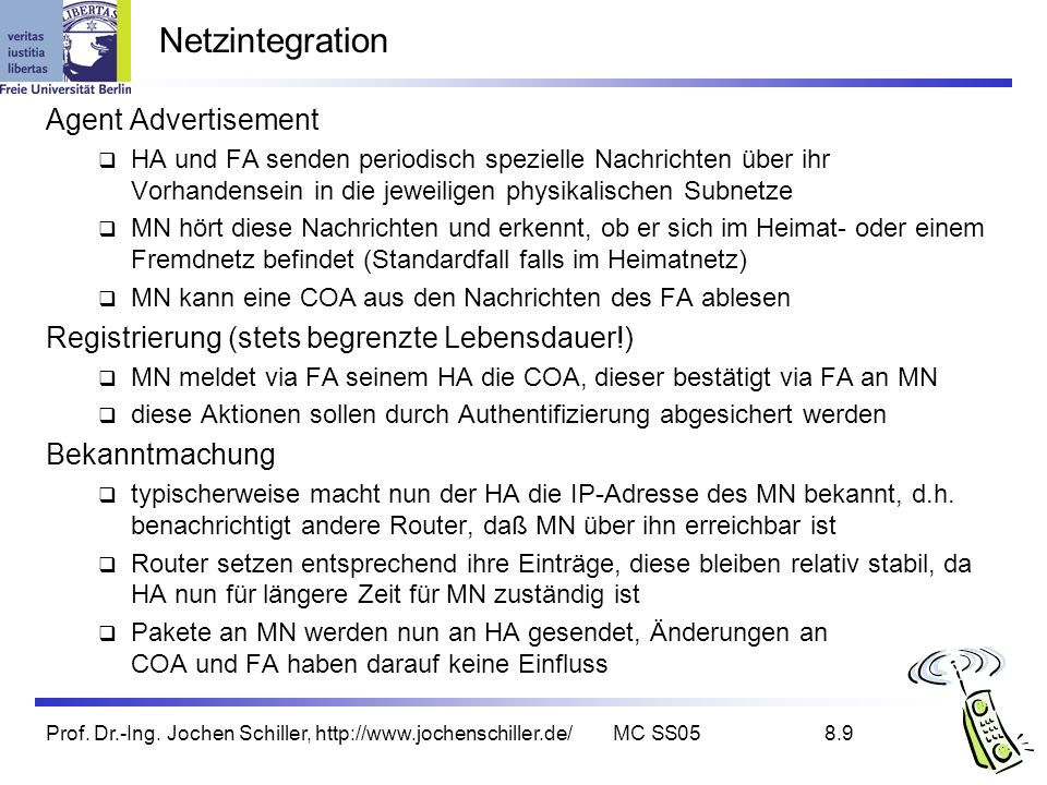 Netzintegration Agent Advertisement