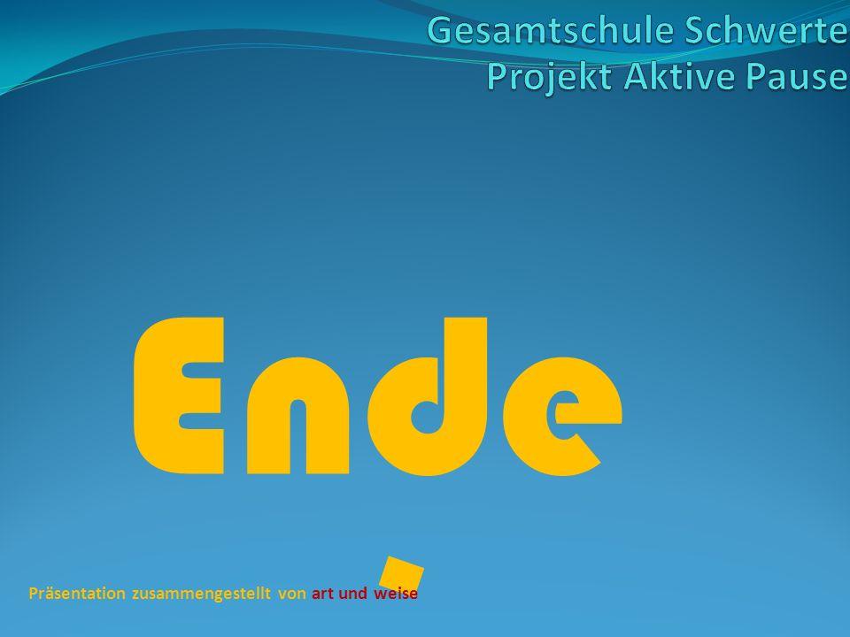 Ende Gesamtschule Schwerte Projekt Aktive Pause
