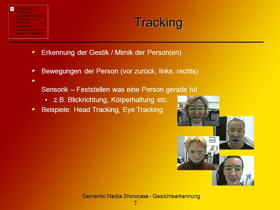 Semantic Media Showcase - Gesichtserkennung