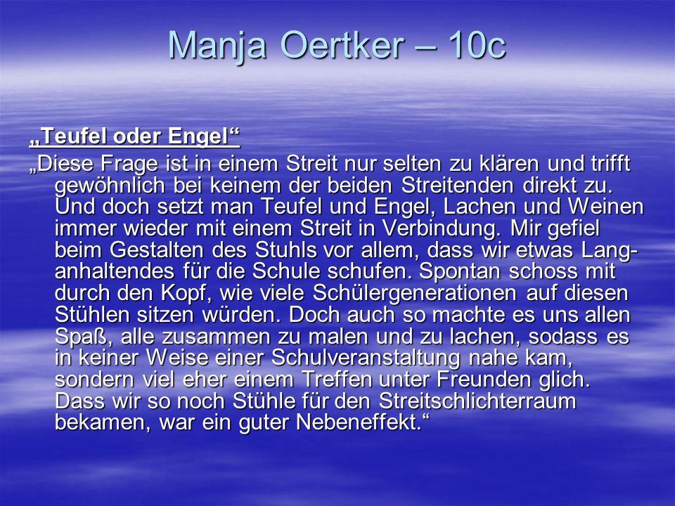 """Manja Oertker – 10c """"Teufel oder Engel"""