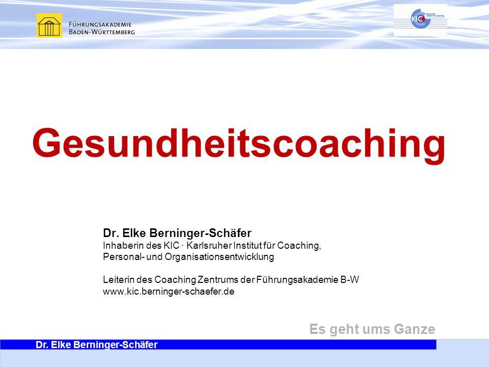 Gesundheitscoaching Dr. Elke Berninger-Schäfer