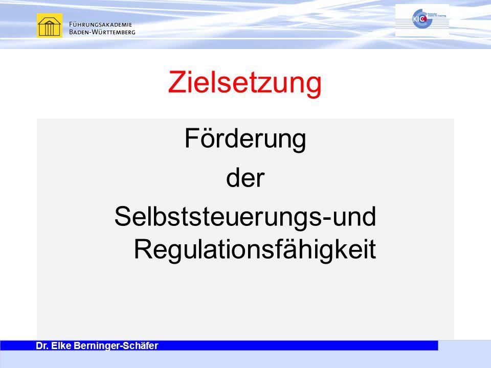 Förderung der Selbststeuerungs-und Regulationsfähigkeit